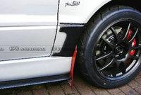 Carbon Fiber VRS Style Front Fender Addon Glossy Fibre Mudguard Kit Fit For Mitsubishi Evolution EVO 7 8 9 Car Styling