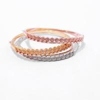 Fashion Bridal Jewelry Charm Bracelets Gold Color Crystal Statement Bracelets & Bangles For Women