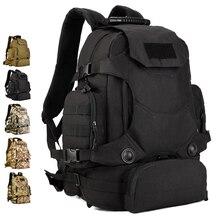 """Combinación Mochila 40L Nylon Camo Táctico MOLLE paquete de La Cintura multifuncional Escalador 14 """"portátil de Viaje Camping Caza"""