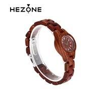 Fashion Women S Retro Vntage Natural Handmade Red Sandal Wood Wrist Watch With Japanese Quartz Movement