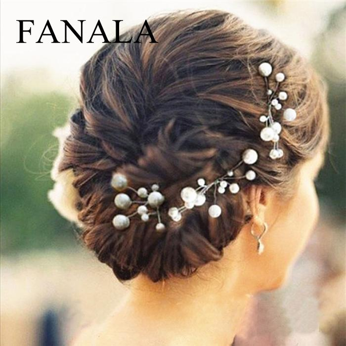1 Teil/satz Hochzeit Prom Haar Pins Clips Ornamente Barrettes Frauen Zubehör Braut Perle Haar Kamm Haarnadel