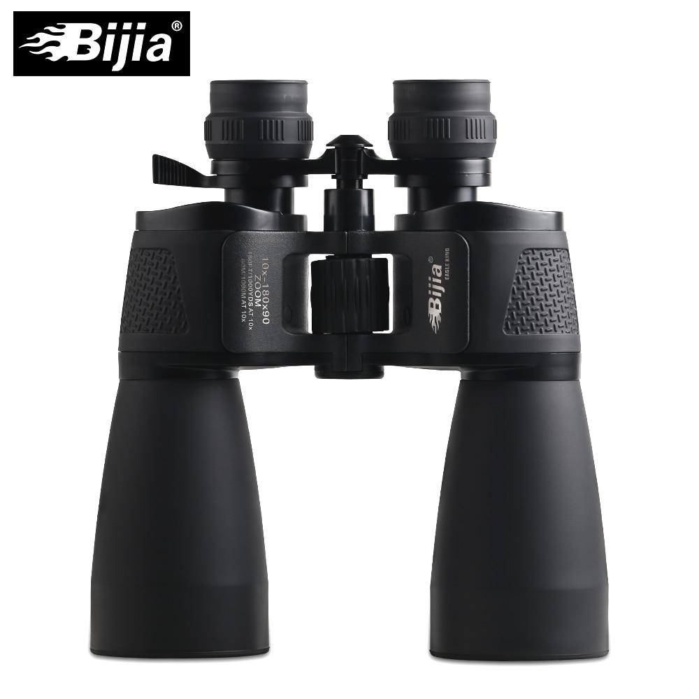 BIJIA 10-180X90 de largo alcance zoom caza telescopio binoculares profesionales de alta definición vida impermeable