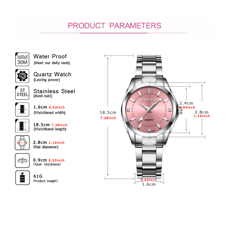 שעון יד נשים מהודר מחברת CHENXI 4
