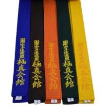 Quente profissional kyokushin kai karatê cintos de cinto de bordar de karatê de cor