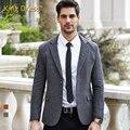 Мужчина Костюмы Куртка Высокое Качество Прямых Продаж Срок годности Шерстяные Регулярный Полный Однобортный Серый Мужская Blazer Мужчины Шерсти блейзеры