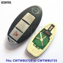 Qcontrol автомобилей Smart Remote Key для Nissan Tiida Qashqai Altima Максима sentra Teana XTRAIL идентификаторе FCC: CWTWBU729 или CWTWBU735