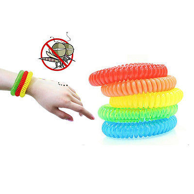 Helen115 Anti Mosquito Insect Repellent Wrist Hair Band Bracelet Camping Outdoor 1pcs 5