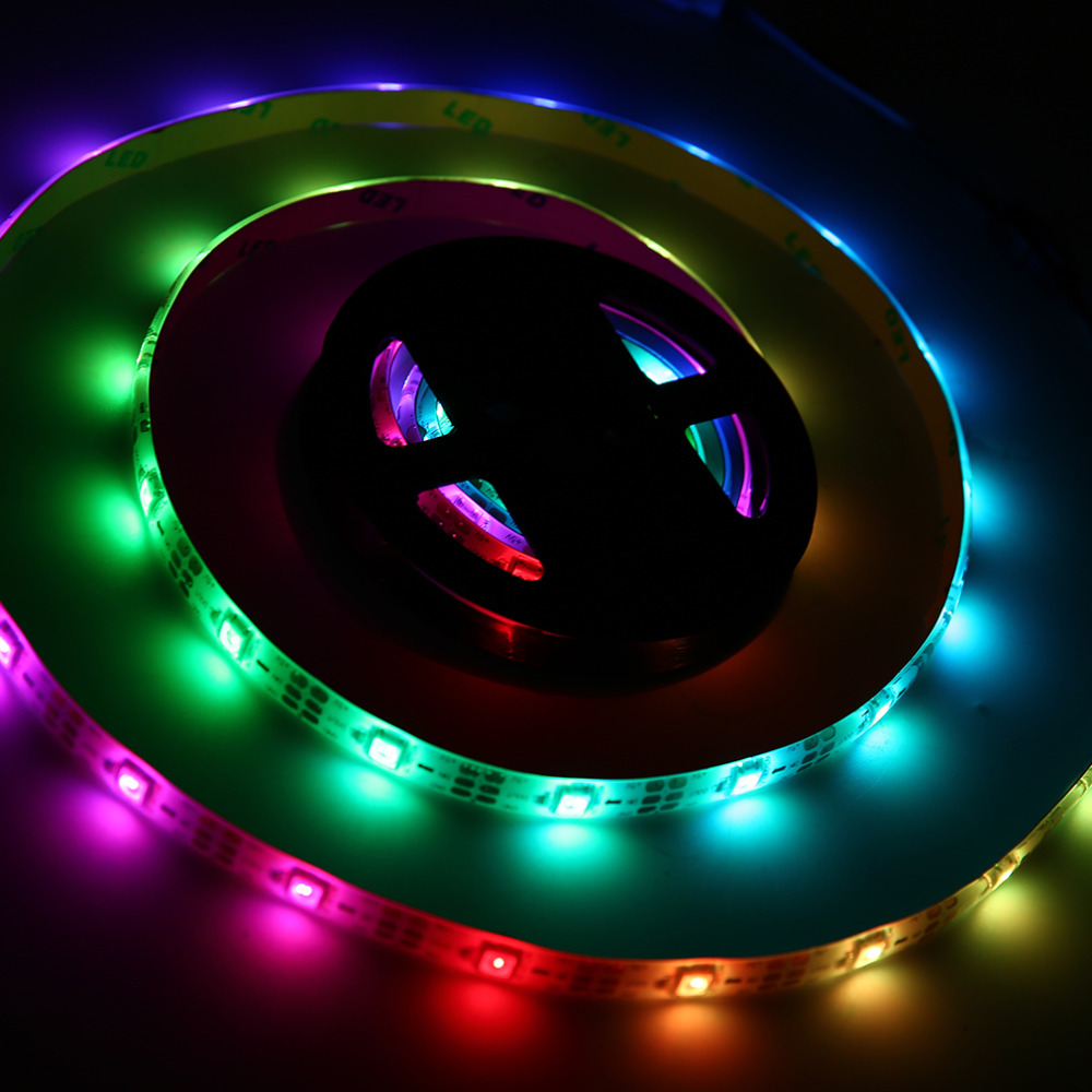 WS68 12 RGB 5050 SMD LED Strip Lamps Waterproof Flexible LED Tape Light USB 5V White Strip Light Super Deal! Inventory Clearance