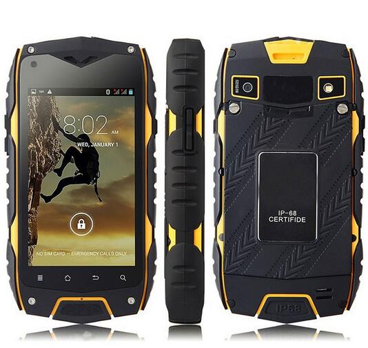 """Original JEEP Z6 MTK6572 Dual Core 3G Mobile Cell Phone Waterproof 4.0"""" IPS Android 4.2 512MB RAM 4GB ROM 5MP Dual Sim GPS WCDMA"""