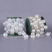 Eine Rolle 9 Meter Länge Größe 25 MM + 4 MM Perlen Draht Kunststoff Perle Kette Hochzeit Liefert DIY Zubehör weihnachten Home Dekoration