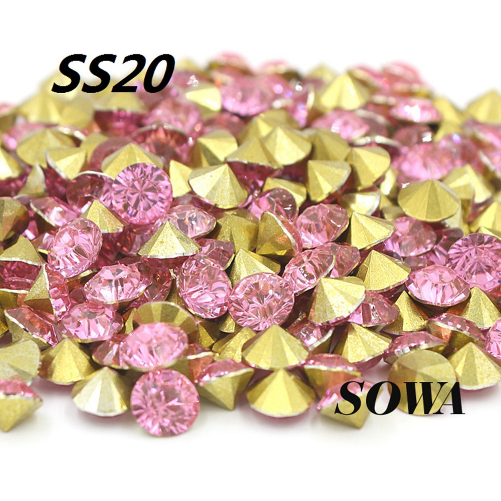 Free shipping Fashion SS20 4.6-4.8mm Sweet pink 432pcsbag(3G) Resin rhinestones Pointback,Resin Stones for DIY Decoration