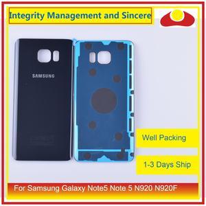 Image 5 - Original para samsung galaxy note5 nota 5 n920 n920f habitação porta da bateria traseira de vidro caso capa chassi escudo