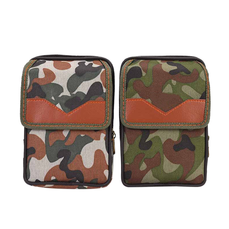 1 PCS Canvas Sports Pockets Men's Multi-purpose Pockets Outdoor Camouflage Vertical Pockets Sandwich Zipper Bag Sale