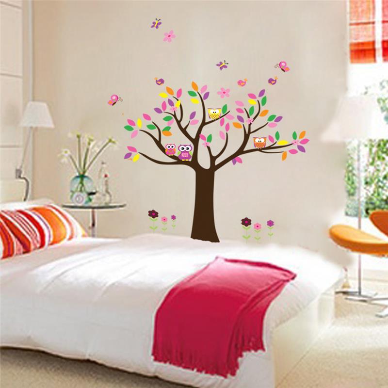 colorido rbol pegatinas de pared para nios decoracin del saln los nios del beb