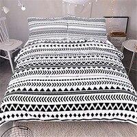 3pcs Comforter Bedding Set King Queen Size Luxury White Triangular Stripes Bed Duvet Covers Single Sheets Set Linen Home Textile