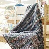 Норо ручной knittied шерстяной пряжи одеяло ручной работы 112*112 Высокое качество модные мягкие ручной работы