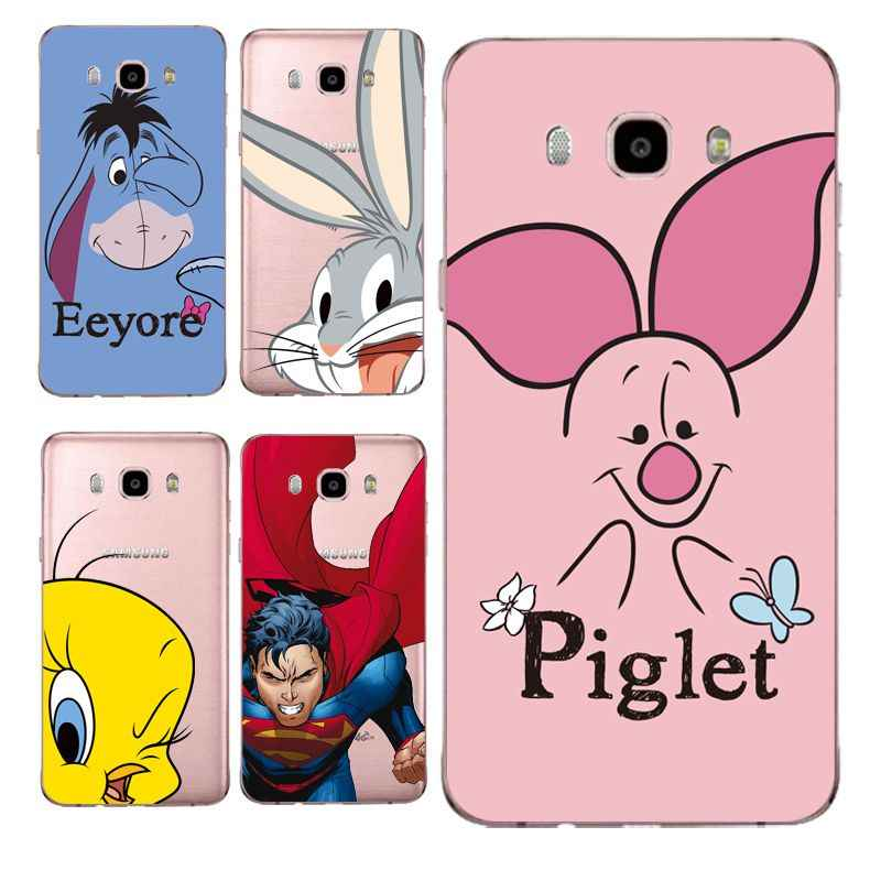 210f06ffacb Piglet Soft Clear TPU Phone Case For Samsung J3 J5 J7 S6 S7 S8 note8 ...