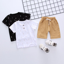 BibiCola summer clothing sets kids cotton casual 2pce