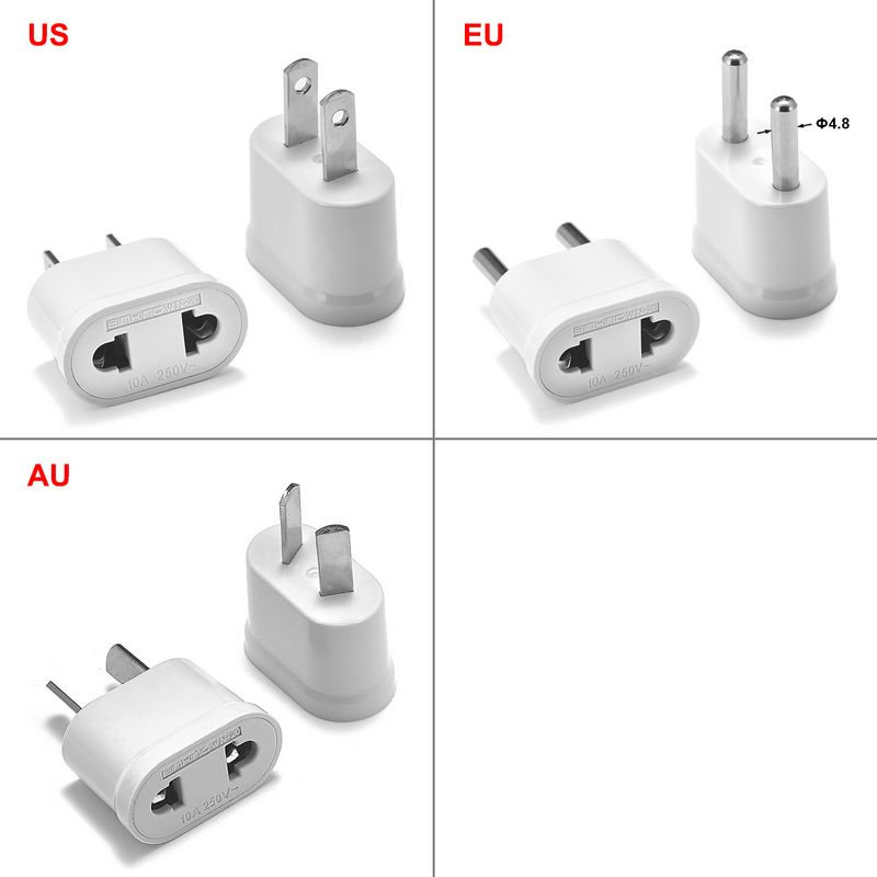 EU Euro KR AU Plug Adapter Power Charger Socket China Japan US To EU Euro KR Travel Adapter Electric Sockets AC Converter Outlet