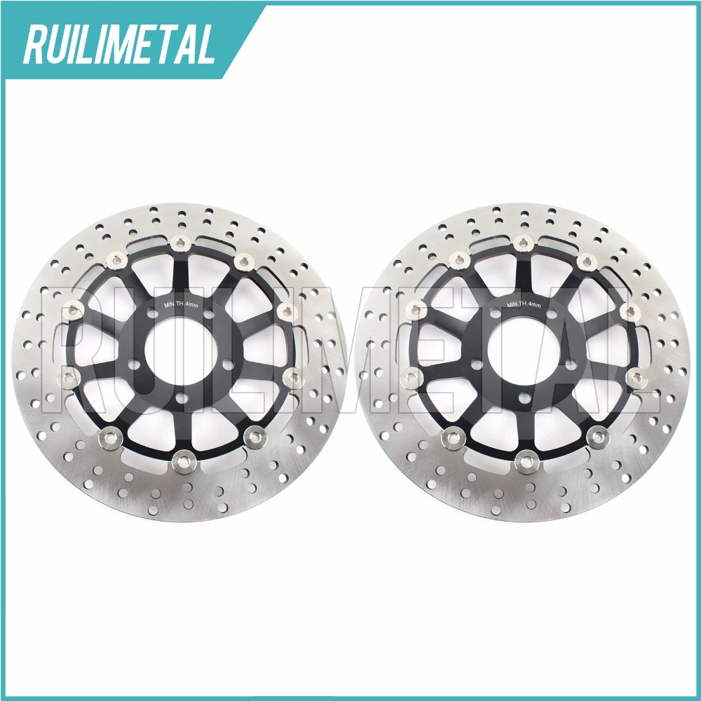 Pair Front Brake Discs Rotors for RGV 250 GSF 600 BANDIT S GSX F 600 750 GSF 400 Bandit P N V VZ S RF R 600 SV S 650 99 00 01 02 adjustable short straight clutch brake levers for suzuki rgv 250 rgv250 gsx 600 f gsx600f sv 650 n s gsx r 750 w 1990 1995