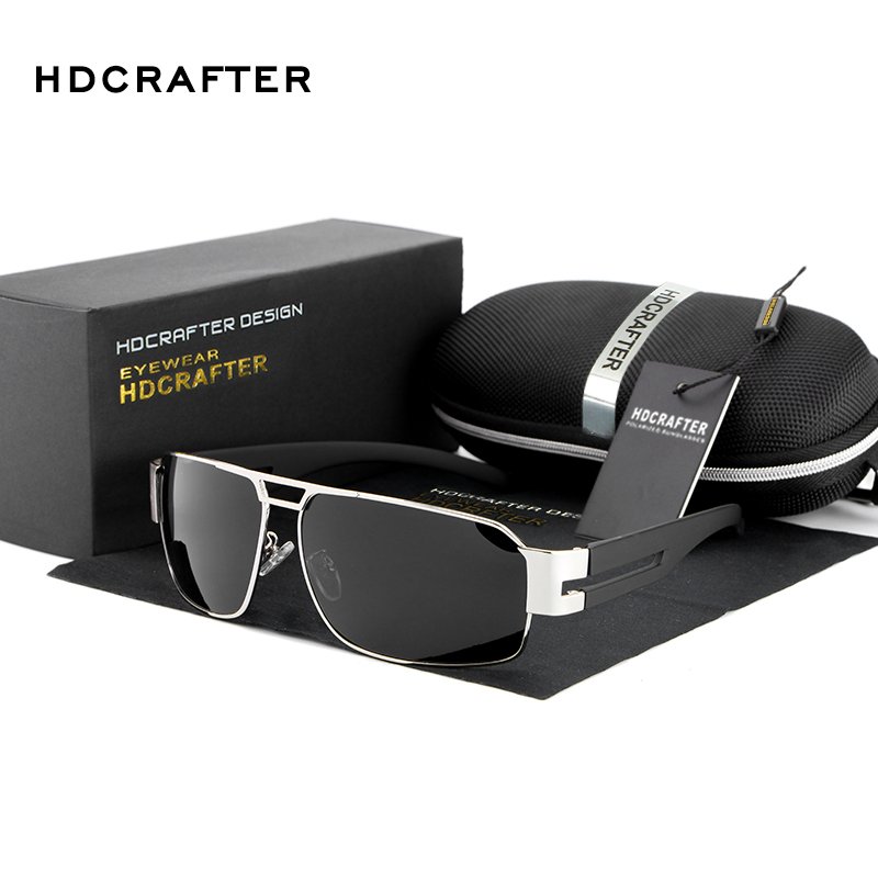 HDCRAFTER 2017 Mens Sun Glasses Fashion Polarized Glasses Driving Sunglasses Men Brand UV400 Prevention Sunglass For