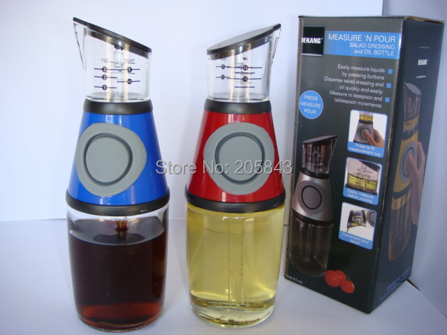 Press and measure oil vinegar dressing dispenser ml in press
