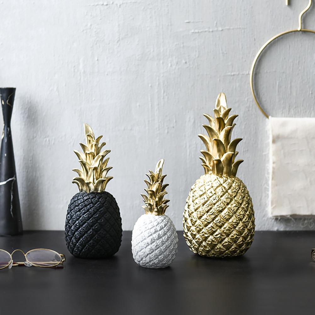 Nordic Modern Pineapple Fruit Living Room Wine Cabinet Window Desktop Home Decor Table Decoration Crafts Fashion