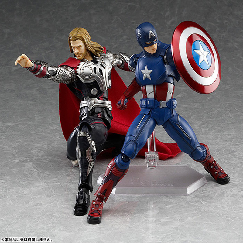 14CM PVC Movable Avengers Union Captain America Thor Action Figure Car Furnishing Articles Model Holiday Gifts Children's Toys 2016 new movie the avengers 2 captain america 1 7 joint movable pvc action figure model collectible kids toy for boy kb0501