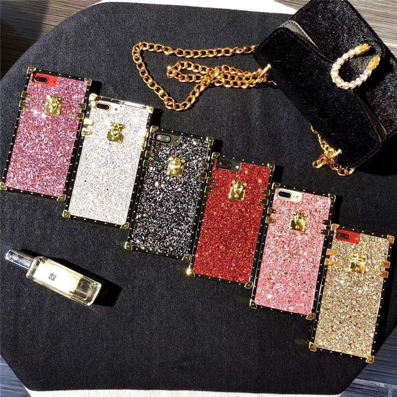 Bling Design PU Silicone Luxury Brand Cover Phone Iphone 6 7 8 X XS Case Best Quality Dope Coque Fundas