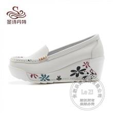 Plattform Partei Mokassin Tragen Creepers Plateau Casual Frauen Mode Krankenschwester Billige Schuhe China 2015 Heels Keil Weichbesohlten Licht