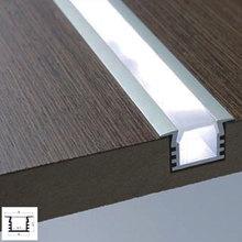 0,5 м светодиодная жесткая полоса со шлицем инкрустированная линия лампы алюминиевый слот оболочка 10 шт