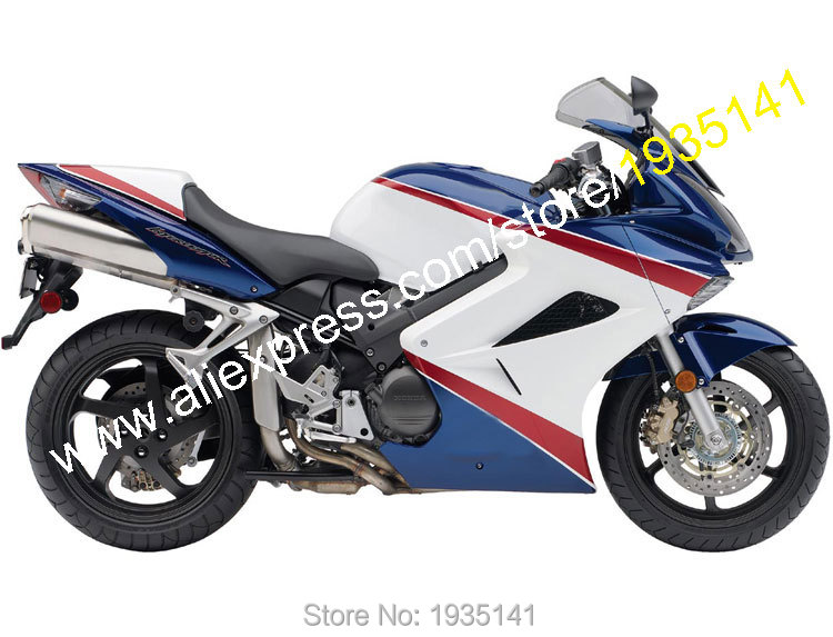 Hot Sales,For Honda VFR 800 2002-2012 VFR800 02-12 Red White Blue Aftermarket ABS Motorcycle Fairing Set (Injection molding) hot sales white black for honda vfr800