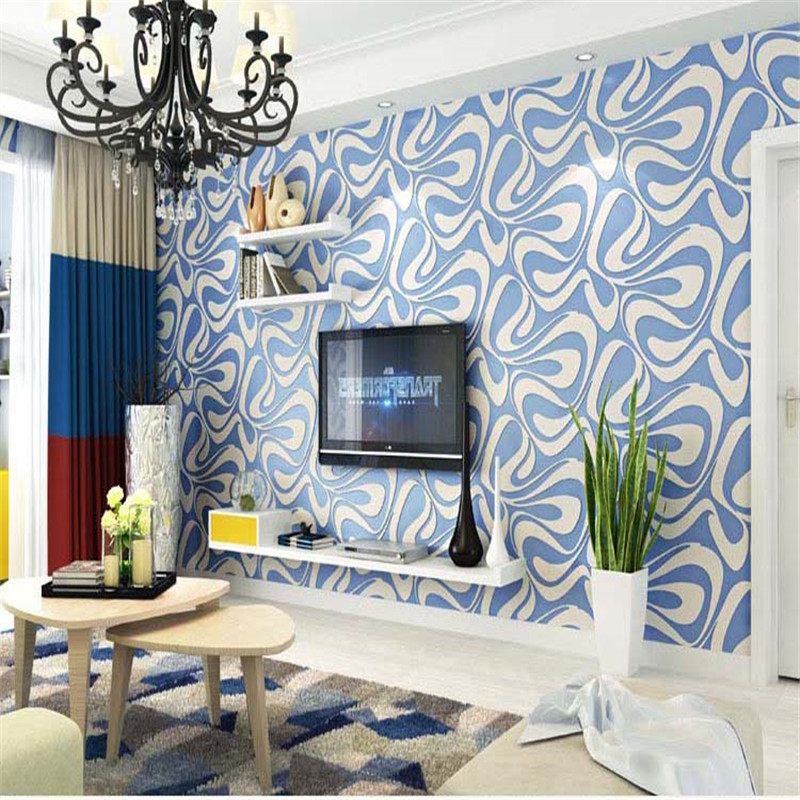 Modern Luxury Wallpapers For Walls 3D Living Room Bedroom Wall Papers Home Decor Florals Photo Blue White Wallpapers Rolls modern embossed 3d wallpapers rolls luxury striped wallpapers non woven desktop wall papers home decor bedroom walls coverings
