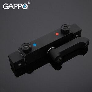 Image 4 - Смеситель для душа GAPPO, черный Термостатический смеситель для душа с водопадом