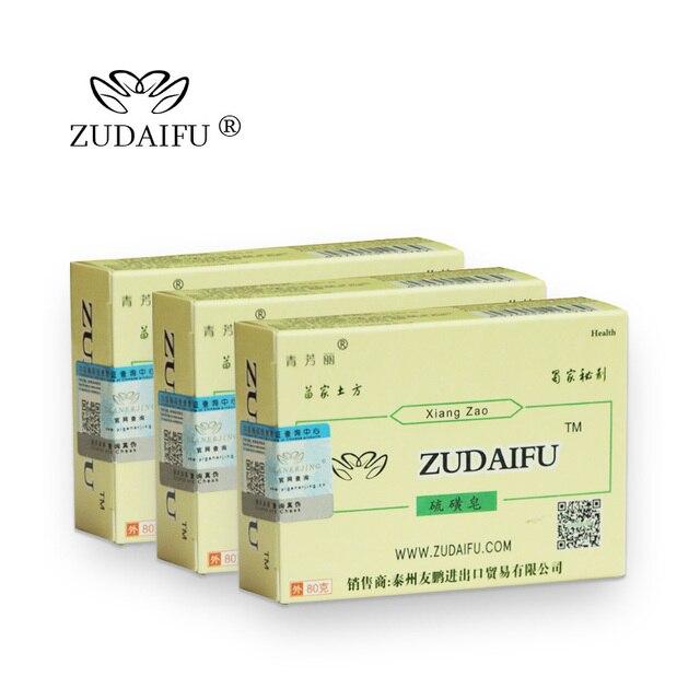 Cheapest zudaifu Sulfur Soap Skin Conditions Acne Psoriasis Seborrhea Eczema Anti Fungus Bath Healthy Soaps Eczema Zudaifu Soap 3