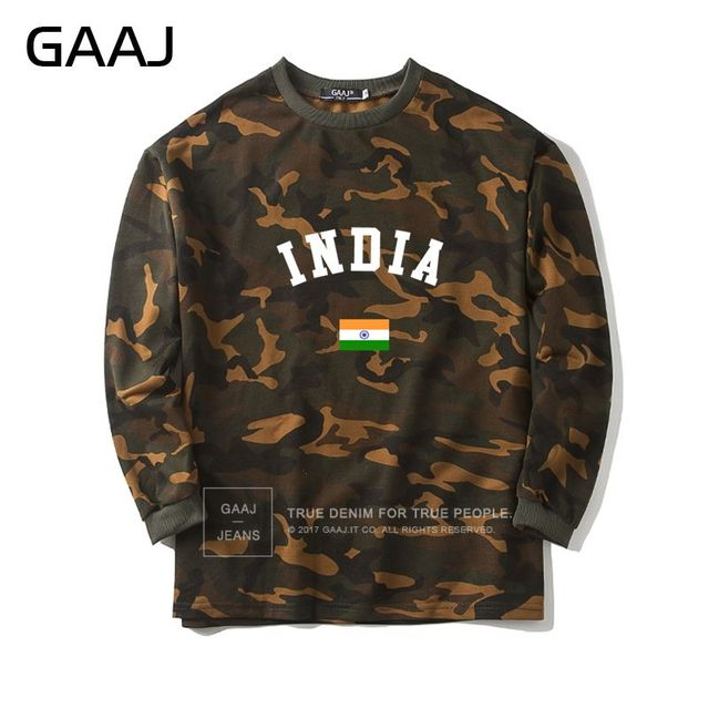 ae5d8475ae915 India Flag Camouflage Sweatshirt Men Women South Asian Hooded Camo Printed  Popular Casual Mens Streetwear Jacket Brand Clothing