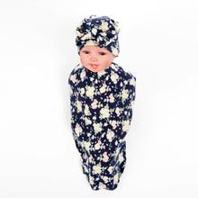 Baby Sleeping Blanket Wraps 2018 Newborn 0-3months Европейский стиль Цветочный шаблон для печати Хлопок Multicolor 80X80cm Дети пеленки
