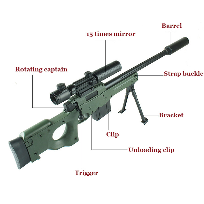 D'eau en plastique Balle Pistolet Jouet Pour Garçons AWM Sniper Carabine À Air Comprimé doux Arme CS Assaut Jeu Sports de Plein Air Tir Des Fusils enfants Jouets - 5