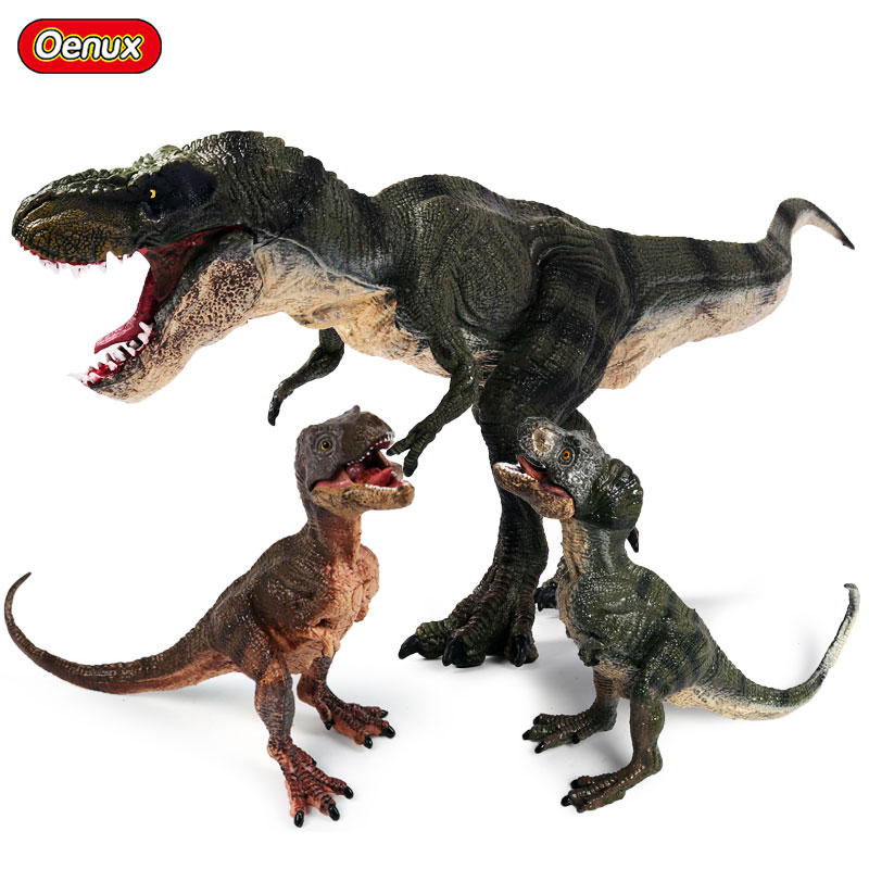 Oenux Jurassic Carnivorous Dinosaurs Walking Tyrannosaurus Rex T-Rex World Action Figures Dinosaur Cub Model Toy For Kid Gift