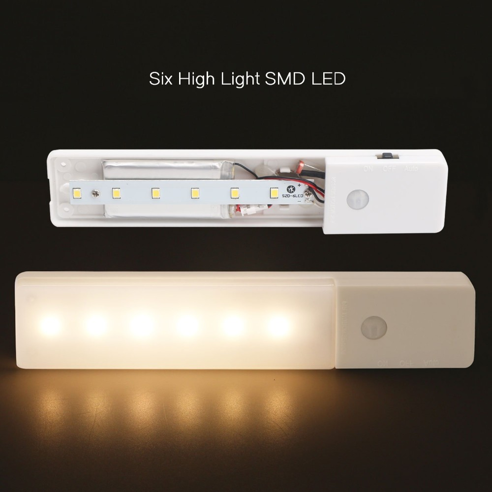 Usb Rechargeable Under Cabinet Lighting Pir Motion Sensor Switch Single Cell Led Driver Using Lt1932 Aeproduct
