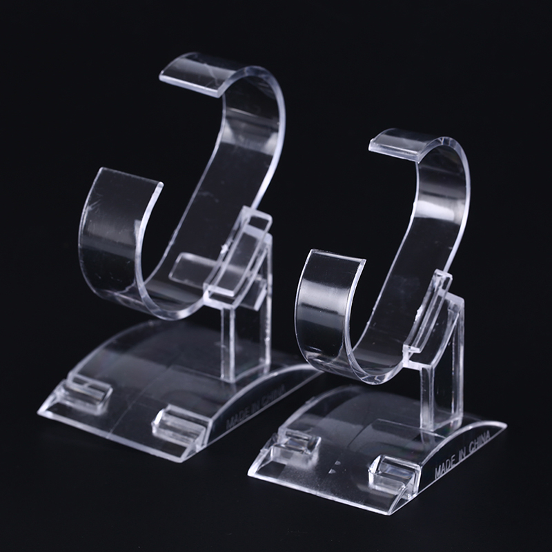 Clear Plastic Wrist Watch Display Rack Holder Clear Acrylic Watch Display Holder Stand Rack Tool Show Case Stand Tool