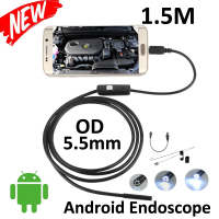 5pcs Lot Micro USB Endoscope Camera 1 5M Android OTG Phone 5 5mm Len Inspection Pipe