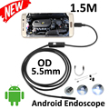 5pcs/lot Micro USB Android Endoscope Camera 1.5M 5.5mm Len Flexible Snake USB Pip inspection OTG USB Borescope Camera 6LED