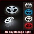 Новый 4d led эмблема наклейка значок для toyota RAV4 REIZ PRADO COROLLA CROWN YARIS VIOS Highlander camrys 4d логотип свет