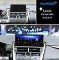 10,25 pulgadas octa core NAVIRIDER Android 7,1 coche Radio WiFi GPS navegación BT unidad de cabeza pantalla táctil para Lexus NX 200 t 300 h nx200T