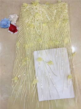 Amazing French lace fabric African net lace cloth for lady dress PDN158(5yards/lot)