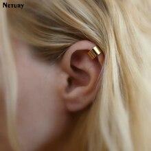 hot deal buy netury women europe fashion stud earrings ear bone buckle gold silver simple trendy earrings alloy casual harajuku lady earring