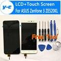 Para asus zenfone 3 ze520kl display lcd + touch screen 100% novo digitalizador substituição do painel de vidro para asus zenfone 3 ze520kl