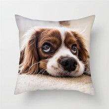 Fuwatacchi Cute Corgi Animal Cushion Covers Various Dogs Painting Pillow Cover for Home Sofa Chair Decorative Pillows Pillowcase