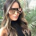 2017 gafas de Sol de la Marca de Lujo para las mujeres de gran tamaño accesorios estrella de La Vendimia Gafas de marco de oro rosa de Las Señoras gafas de sol femenino